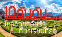 10 อันดับ มหาวิทยาลัยรัฐบาลน่าเรียนที่สุดในประเทศไทย2559
